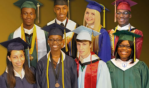 Graduating students from Richland One in South Carolina