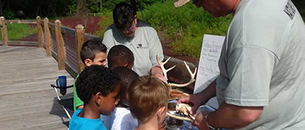 Children learning at Saluda Shoals Park